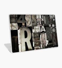 Custom Letterpress Laptop Skin