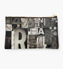 Custom Letterpress Studio Pouch