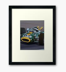 INDY JIMMY Framed Print