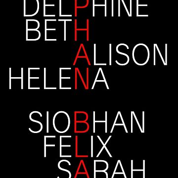 Orphan Black - names (white) by shadoboxer