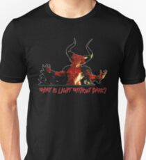 Lord of Darkness - What is light without dark? rev2 Slim Fit T-Shirt