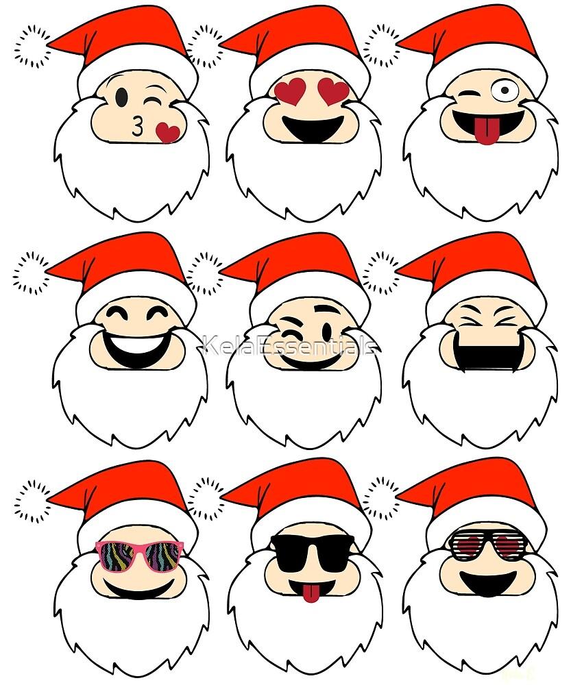 Funny Christmas Emoji Santa Claus Shirt  by KelaEssentials