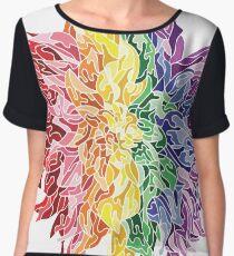 Rainbow Flower Chiffon Top
