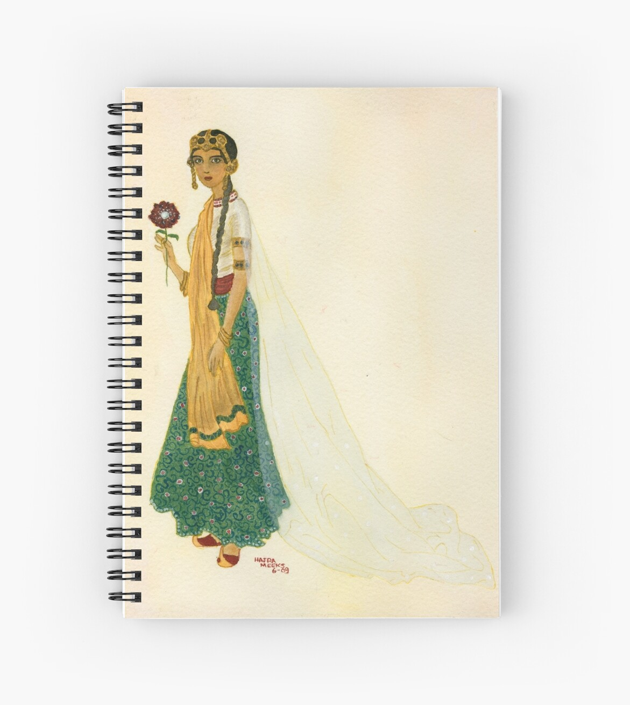 Exotic Princess on Ochre Wash  by Hajra Meeks