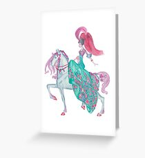 Fairy Tale Princess and Horse Greeting Card