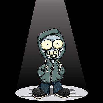Creepy Boy in a Hoodie by Wislander
