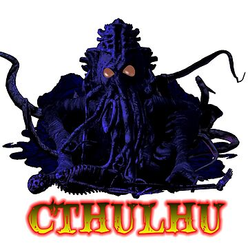CTHULHU BLUE HP LOVECRAFT by dgstudio