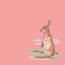 Watercolor Bunny by HAJRA MEEKS