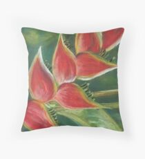 Heliconia Bloom Throw Pillow