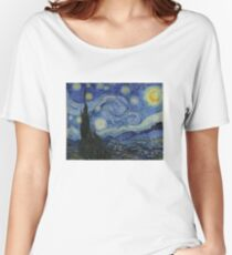Starry Night (Vincent van Gogh) Women's Relaxed Fit T-Shirt