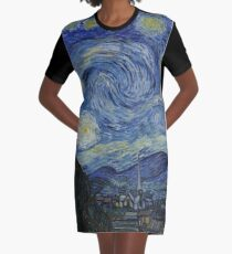 Sternennacht (Vincent van Gogh) T-Shirt Kleid