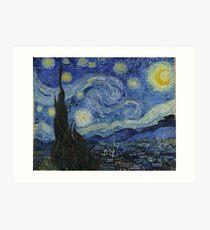 Nuit étoilée (Vincent van Gogh) Impression artistique