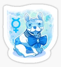 Sailor MercuFrenchie (Sailor Mercury) Water Drop Pattern Sticker