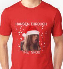 Hansen a través de la nieve Camiseta unisex