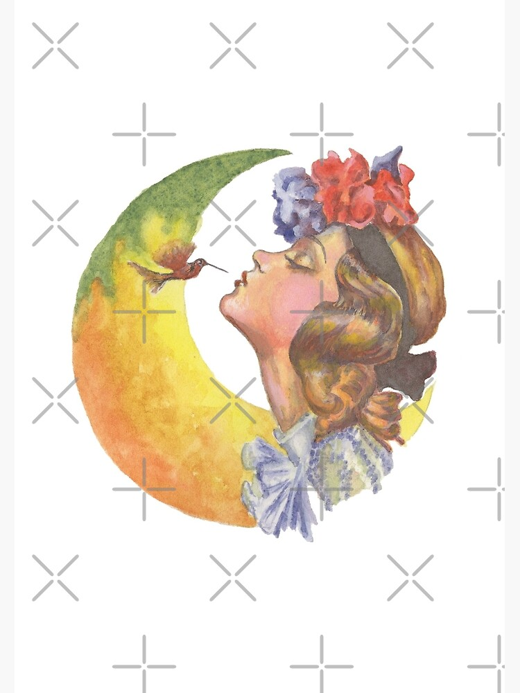 Beautiful Girl with Hummingbird by HajraMeeks