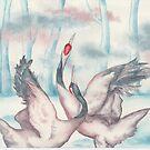 Dancing Cranes by HAJRA MEEKS