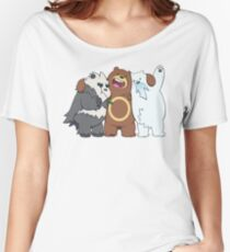 Poke Bare Bears Women's Relaxed Fit T-Shirt