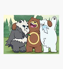 Poke Bare Bears Photographic Print