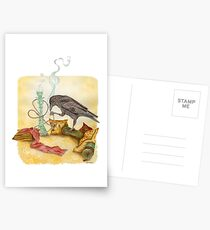 Crow with Hookah Postcards