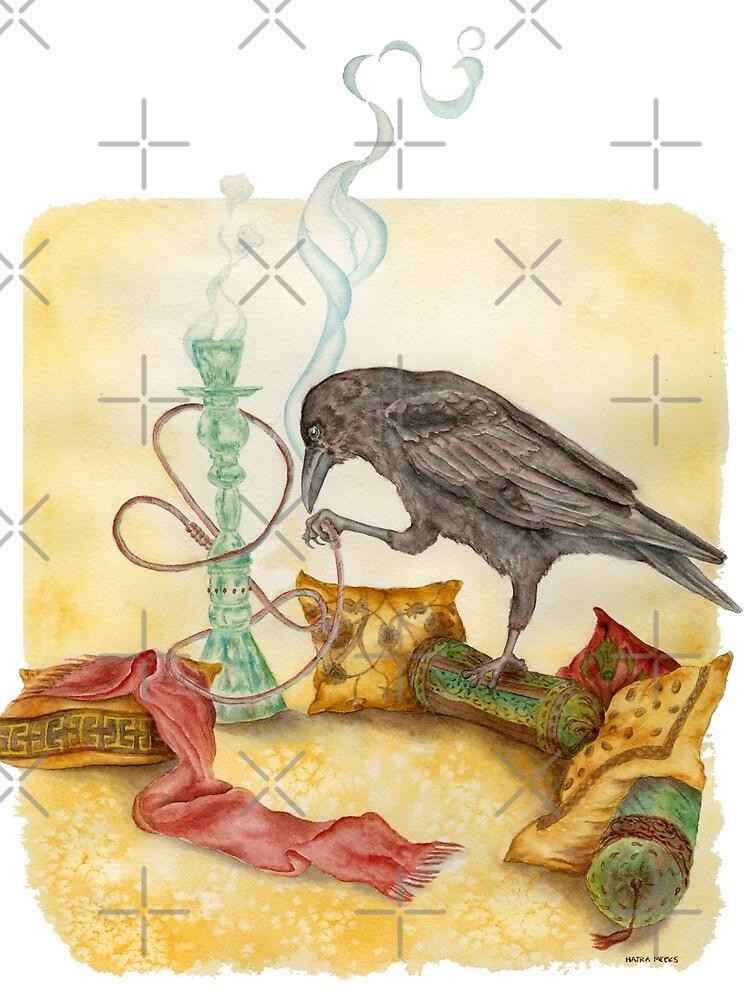 Crow with Hookah by HajraMeeks