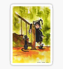 Little Witch and Cat Sticker