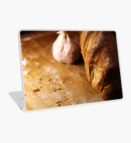Garlic Bread in the making Laptop Skin