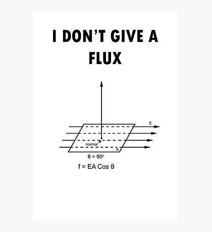 I don't give a flux Photographic Print