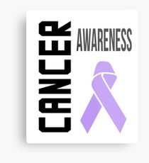 Cancer Awareness Ribbon (all cancers) Metal Print