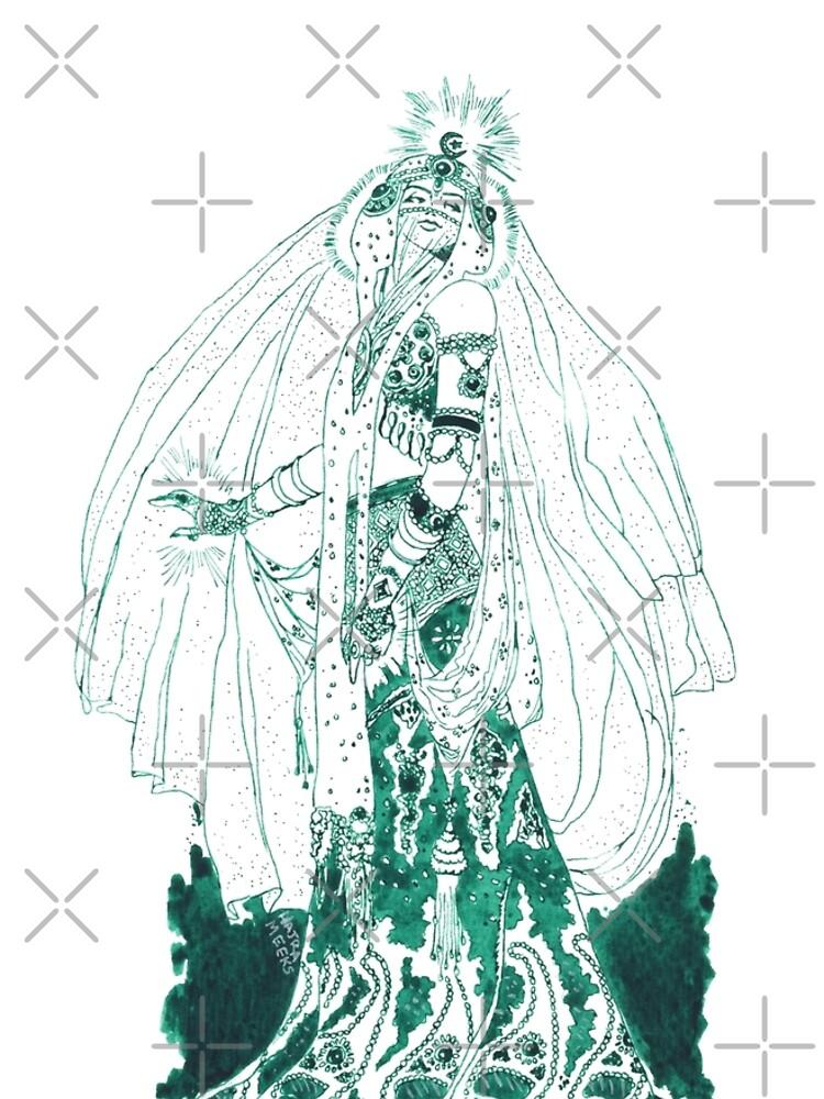Enchantress in Emerald Ink by HajraMeeks