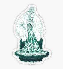 Enchantress in Emerald Ink Transparent Sticker