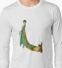 Art Deco Femme Fatale Long Sleeve T-Shirt