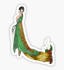 Art Deco Femme Fatale Sticker
