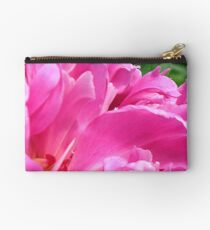 Pink Peony Petals Studio Pouch