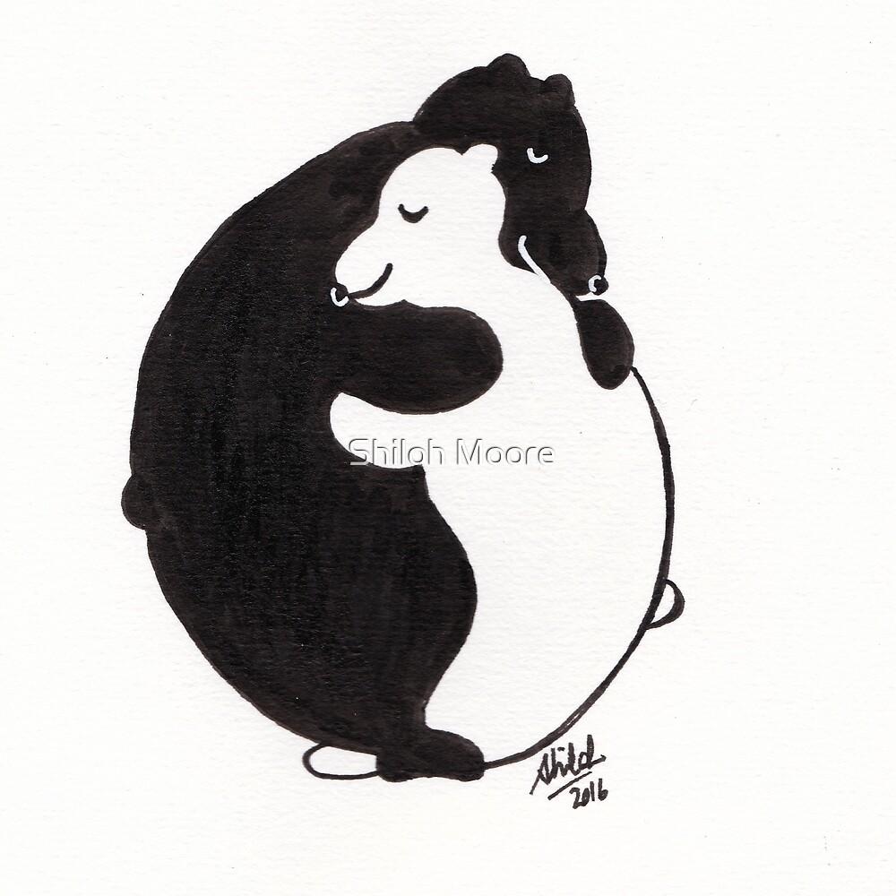 Yin Yang Bear Hug by Shiloh Moore
