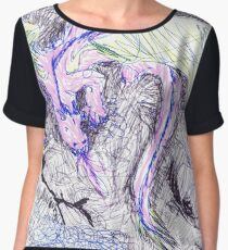 Dragon on a cliff - color Chiffon Top