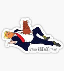 NObody Kneads Trump Sticker