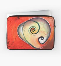Twists on Red Laptop Sleeve