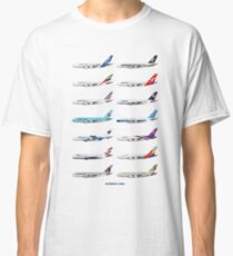 Airbus A380 Operators Illustration Classic T-Shirt