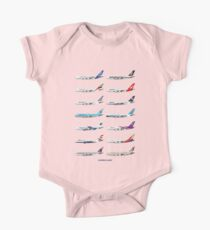 Airbus A380 Operators Illustration One Piece - Short Sleeve