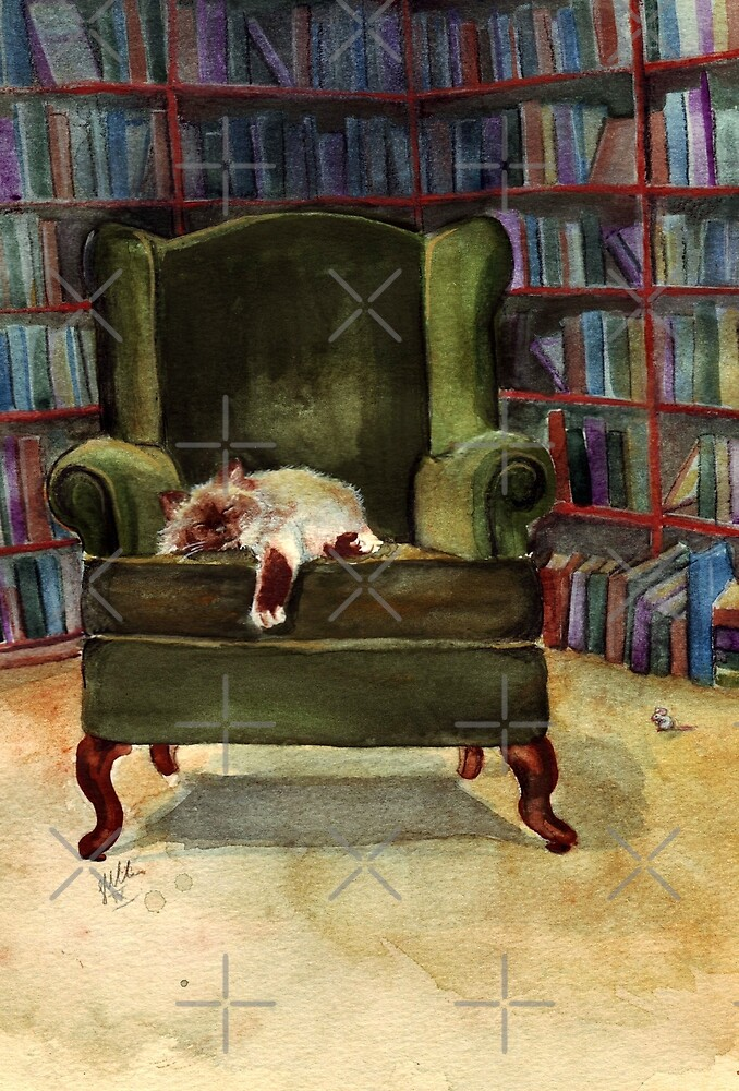 Monkey's Library by Sarah  Mac