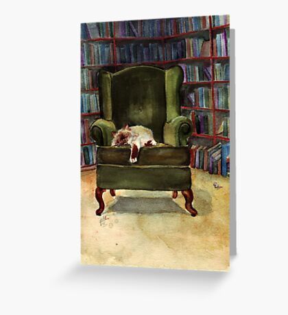 Monkey's Library Greeting Card