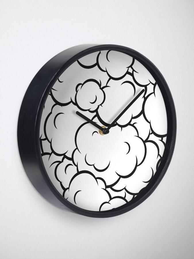 Vista alternativa de Reloj Patrón de nubes de arte pop