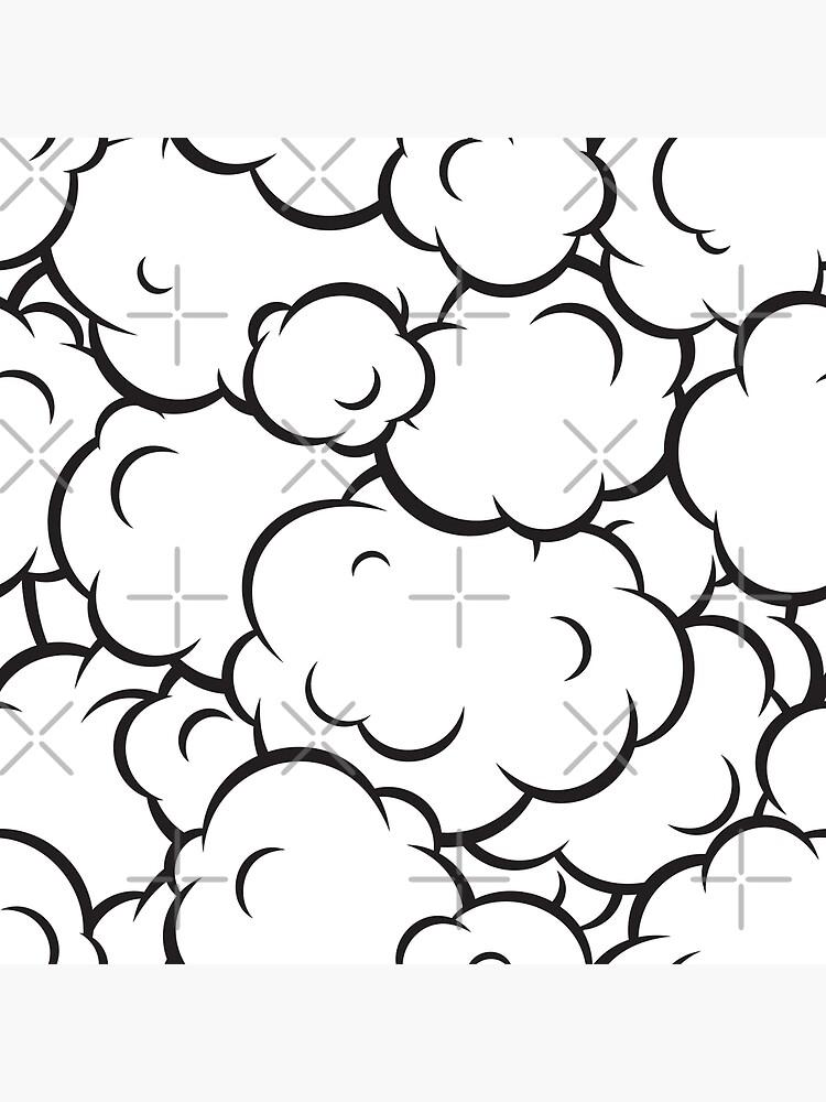 Patrón de nubes de arte pop de dmitriylo
