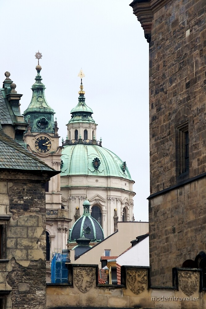 Domes and spires in Prague by moderntraveller