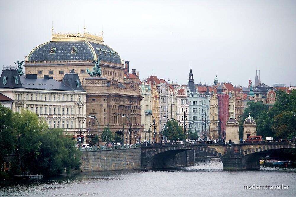 Pastel facades in Prague by moderntraveller