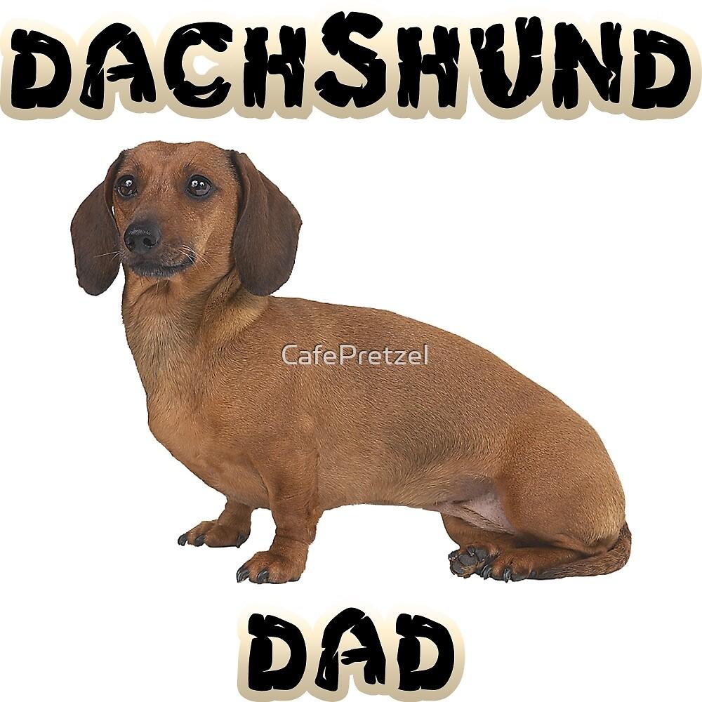Smooth Dachshund Dad Father by CafePretzel