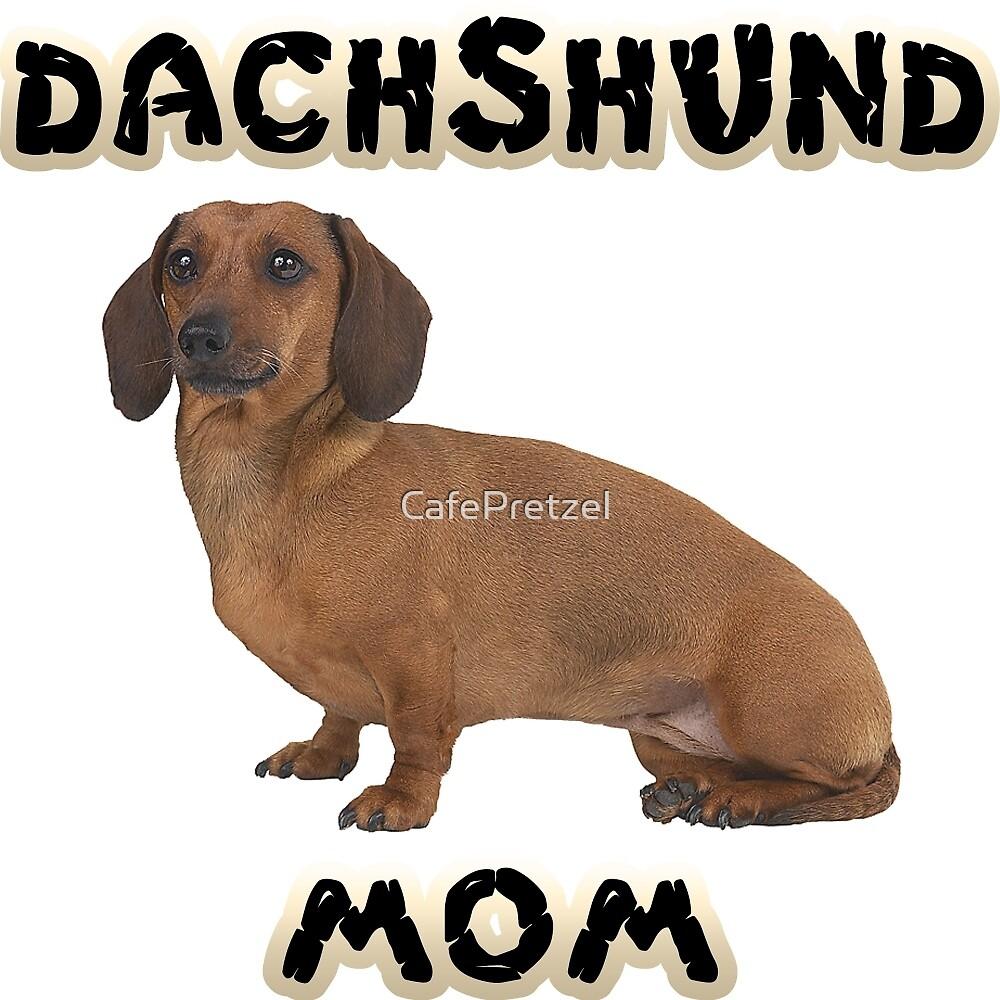 Smooth Dachshund Mom Mother by CafePretzel