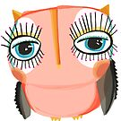 Little peach owl by annieclayton