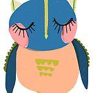 Blue headed owl by annieclayton