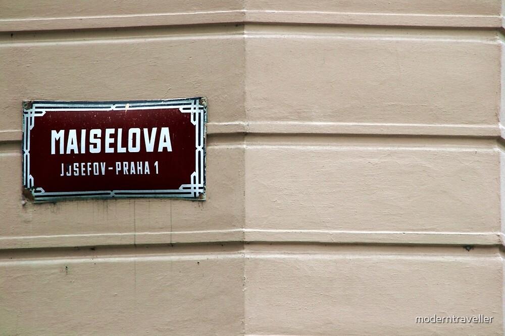 Street sign in Prague by moderntraveller
